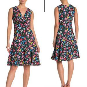 $368 NWT Elie Tahari Bright Floral Slit Mini Dress